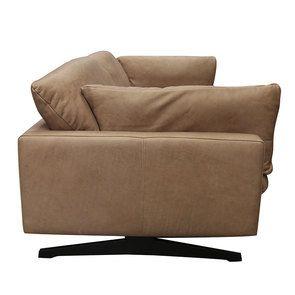 Canapé 3 places en cuir taupe - Dublin - Visuel n°5