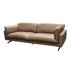 Canapé 3 places en cuir taupe - Dublin - Visuel n°8