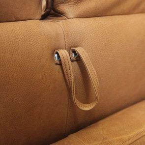 Canapé 3 places en cuir camel - Edimbourg - Visuel n°18