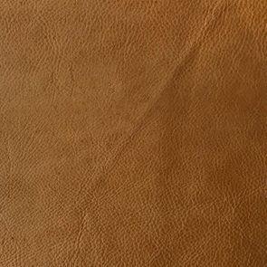Pouf fixe en cuir camel - Edimbourg - Visuel n°13