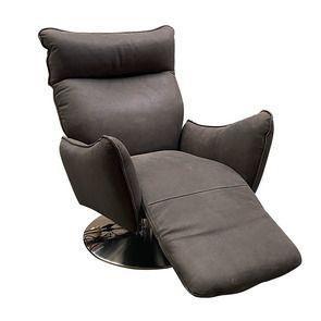 Fauteuil relax inclinable électrique en cuir graphite - Zurich