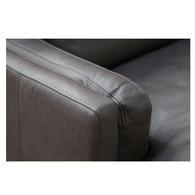 Canapé en cuir gris 5 places - Stanford - Visuel n°7