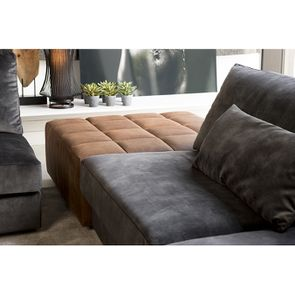Canapé 2 places en tissu velours noir accoudoir droit - Baltimore - Visuel n°5