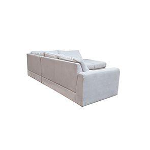 Canapé d'angle 5 places en tissu beige partie gauche - Baltimore - Visuel n°6