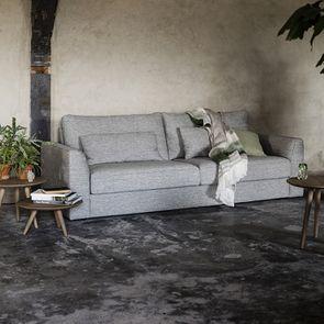 Canapé 3 places en tissu gris - Baltimore - Visuel n°3