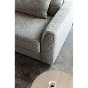 Canapé 3 places en tissu gris - Baltimore - Visuel n°4