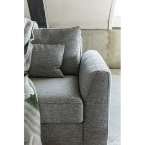 Canapé 3 places en tissu gris - Baltimore - Visuel n°5