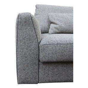 Canapé 4 places en tissu gris - Baltimore - Visuel n°9