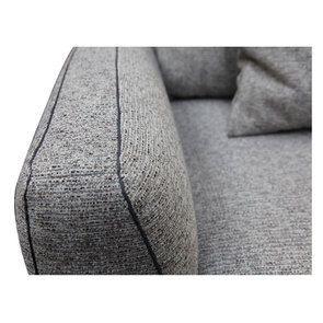 Canapé 4 places en tissu gris - Baltimore - Visuel n°10