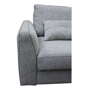 Canapé 4 places en tissu gris - Baltimore - Visuel n°11