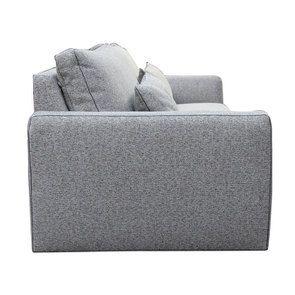Canapé 4 places en tissu gris - Baltimore - Visuel n°5