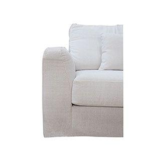 Canapé d'angle 5 places en tissu beige partie droite - Baltimore - Visuel n°3