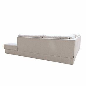 Canapé d'angle 5 places en tissu beige partie droite - Baltimore - Visuel n°9