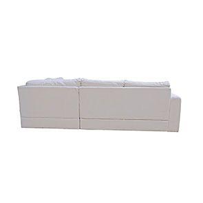 Canapé d'angle 5 places en tissu beige partie droite - Baltimore - Visuel n°11