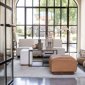 Module 1,5 places pour canapé d'angle en tissu beige - Milano - Visuel n°5