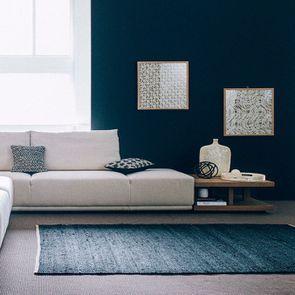 Module lounge accoudoir droit pour canapé d'angle en tissu beige - Milano - Visuel n°4