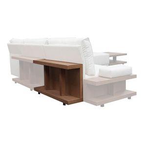 Table arrière pour canapé d'angle en tissu beige - Milano - Visuel n°4