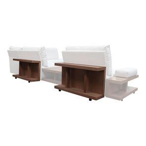 Table arrière pour canapé d'angle en tissu beige - Milano - Visuel n°3