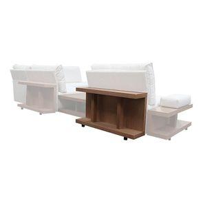 Table arrière pour canapé d'angle en tissu beige - Milano - Visuel n°5