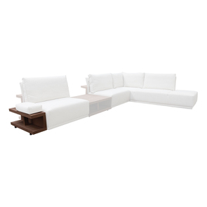 Table d'angle pour canapé en tissu modulable - Milano - Visuel n°2