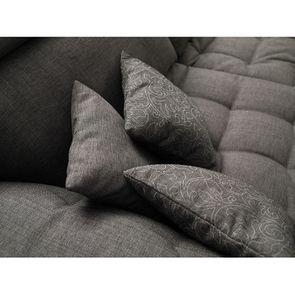 Canapé 1.5 places en tissu gris - Stockholm