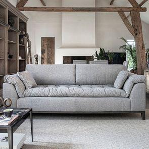 Canapé 4 places en tissu gris - Stockholm