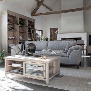 Canapé 4 places en tissu gris - Stockholm - Visuel n°3