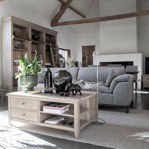 Canapé 4 places en tissu gris - Stockholm - Visuel n°4