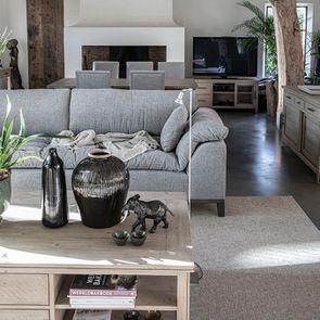 Canapé 4 places en tissu gris - Stockholm - Visuel n°5