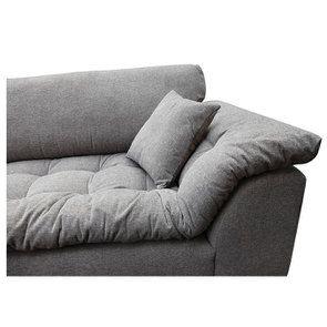 Canapé 4 places en tissu gris - Stockholm - Visuel n°13