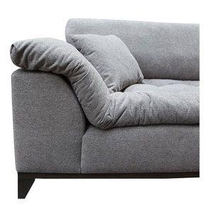 Canapé 4 places en tissu gris - Stockholm - Visuel n°14