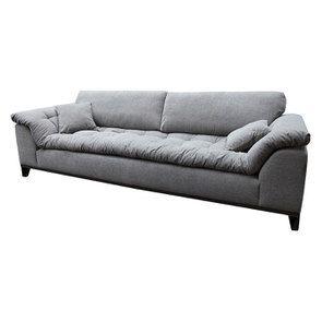 Canapé 4 places en tissu gris - Stockholm - Visuel n°8