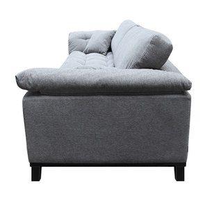Canapé 4 places en tissu gris - Stockholm - Visuel n°9