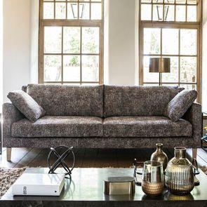 Canapé 4 places en tissu moucheté terracota et bleu - Livourne - Visuel n°2