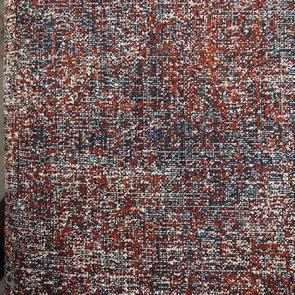 Canapé 4 places en tissu moucheté terracota et bleu - Livourne - Visuel n°11