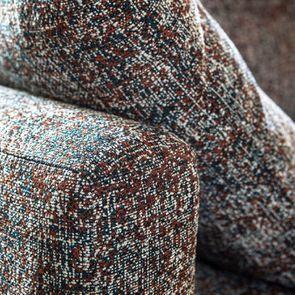Canapé 4 places en tissu moucheté terracota et bleu - Livourne - Visuel n°12