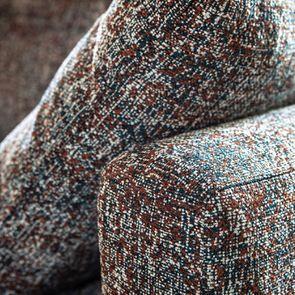 Canapé 4 places en tissu moucheté terracota et bleu - Livourne - Visuel n°13