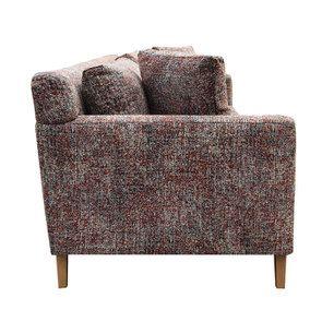 Canapé 4 places en tissu moucheté terracota et bleu - Livourne - Visuel n°5