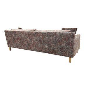 Canapé 4 places en tissu moucheté terracota et bleu - Livourne - Visuel n°6