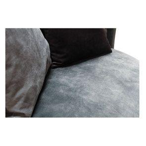 Fauteuil lounge en velours bleu pétrole - Paolo - Visuel n°10