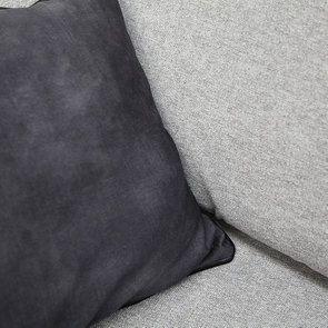Canapé 3,5 places en tissu gris - Nelson - Visuel n°7