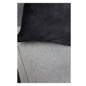 Canapé 3,5 places en tissu gris - Nelson - Visuel n°8
