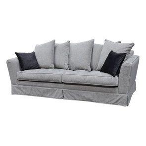 Canapé 3,5 places en tissu gris - Nelson - Visuel n°3