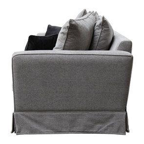 Canapé 3,5 places en tissu gris - Nelson - Visuel n°4