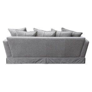 Canapé 3,5 places en tissu gris - Nelson - Visuel n°6