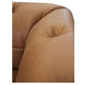 Canapé 3 places en cuir camel - Brighton - Visuel n°8