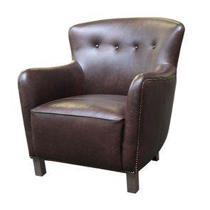 Fauteuil en cuir marron - Sheffield - Visuel n°4