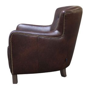 Fauteuil en cuir marron - Sheffield - Visuel n°5