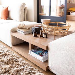 Canapé d'angle en tissu beige - Milano - Visuel n°9