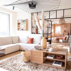 Canapé d'angle en tissu beige - Milano - Visuel n°11